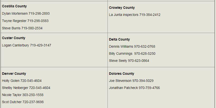colorado county brand inspectors 2